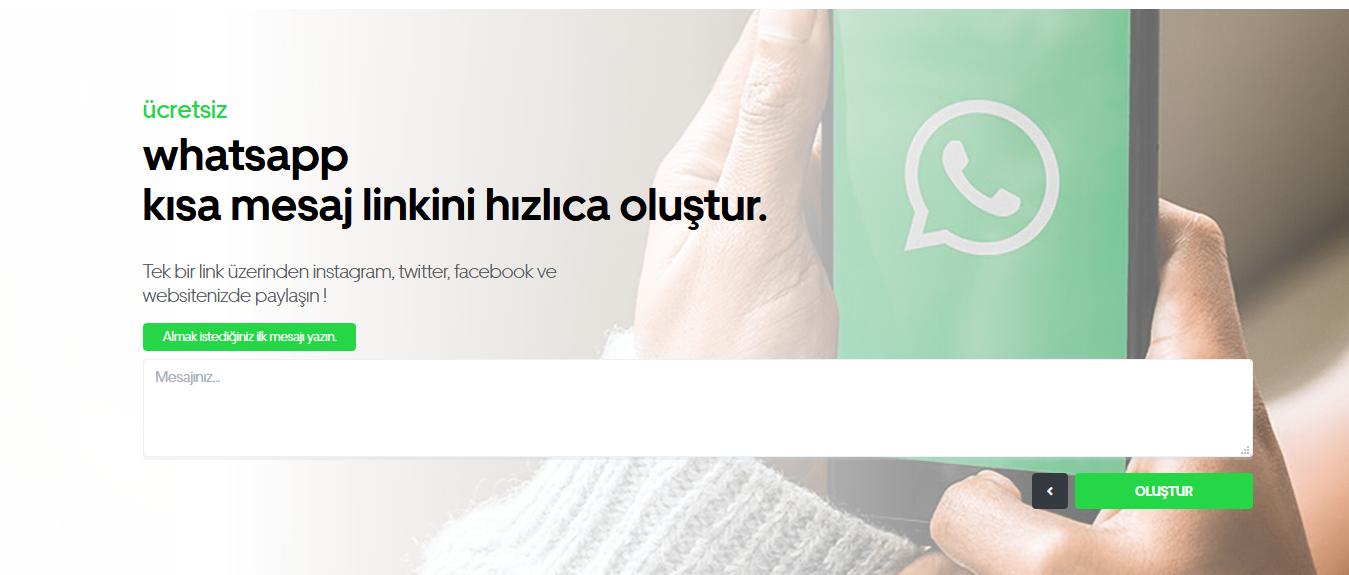Whatsapp kısa link oluşturma